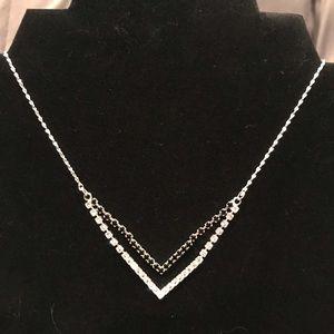 Black and White Rhinestone Necklace